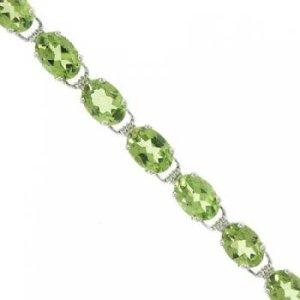 Peridot and Diamond Bracelet