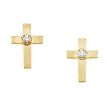 Western Cross Diamond Earrings