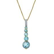Blue Topaz Journey Pendant