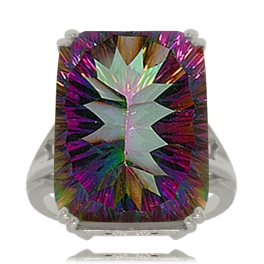 large mystic fire topaz ring